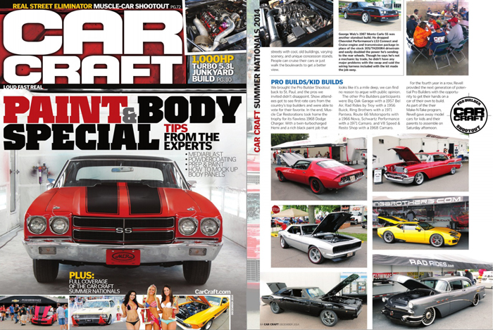 "1968 Camaro ""Reloaed"" in December, 2014 Car Craft Magazine"