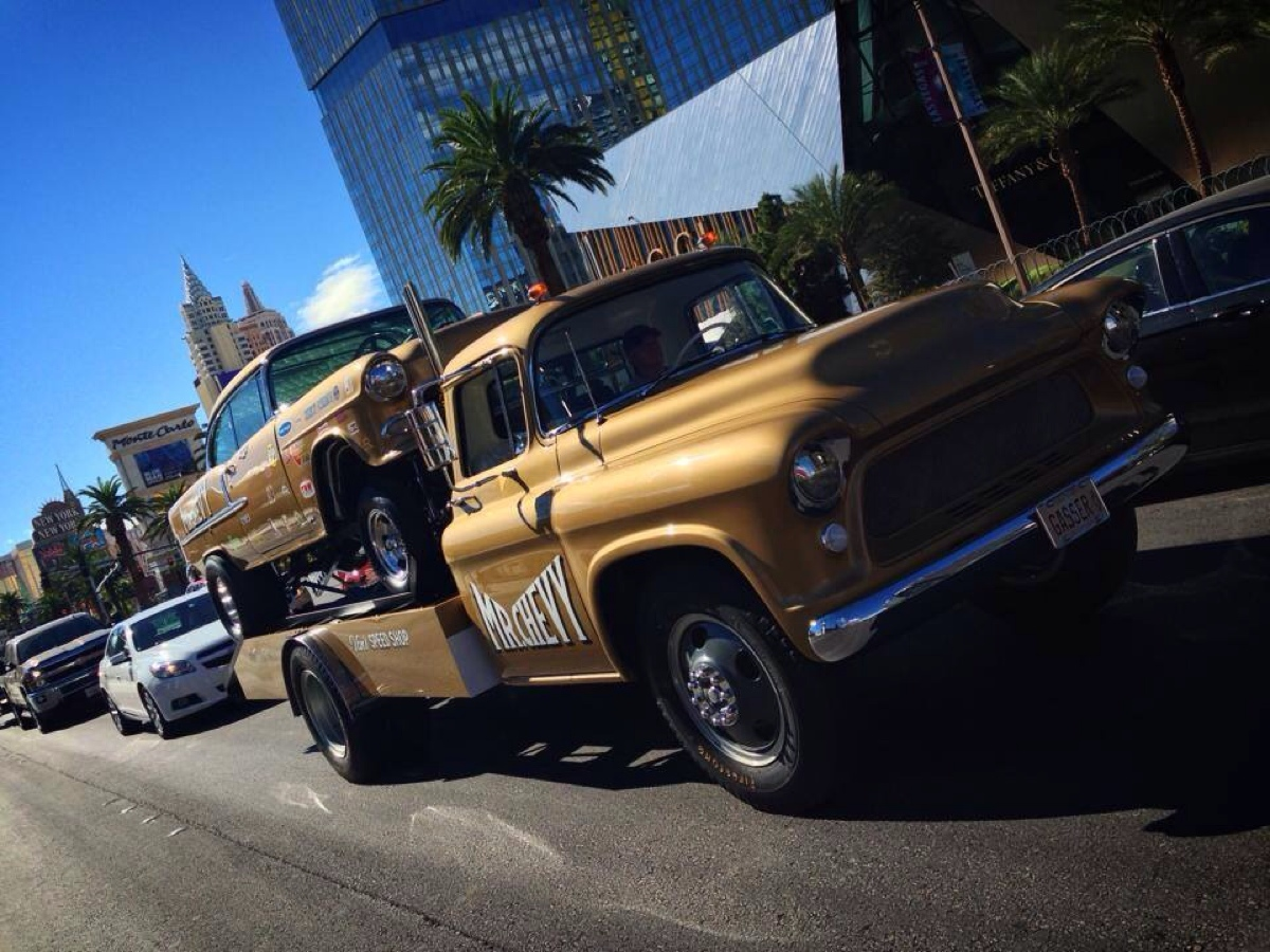 Mr. Chevy Gasser on Las Vegas Strip