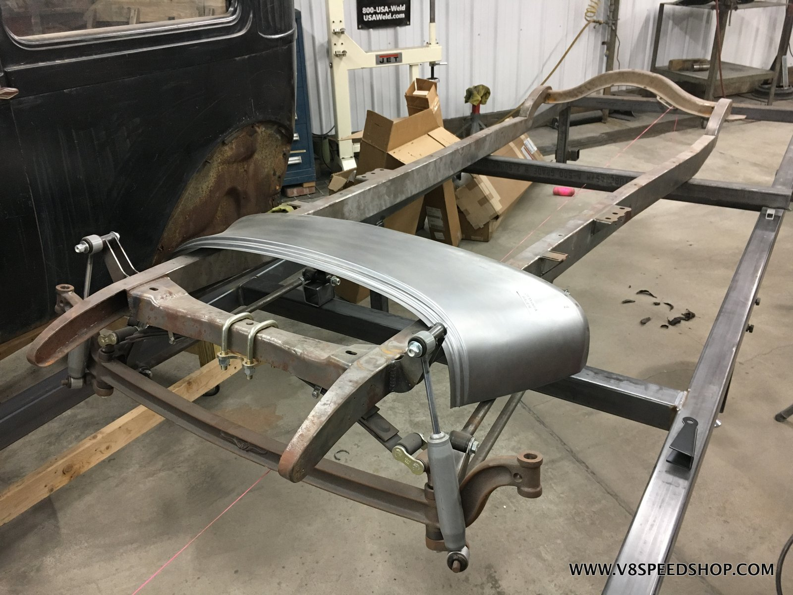 1928 Ford Sedan Chassis Fabrication At V8 Speed And Resto Shop