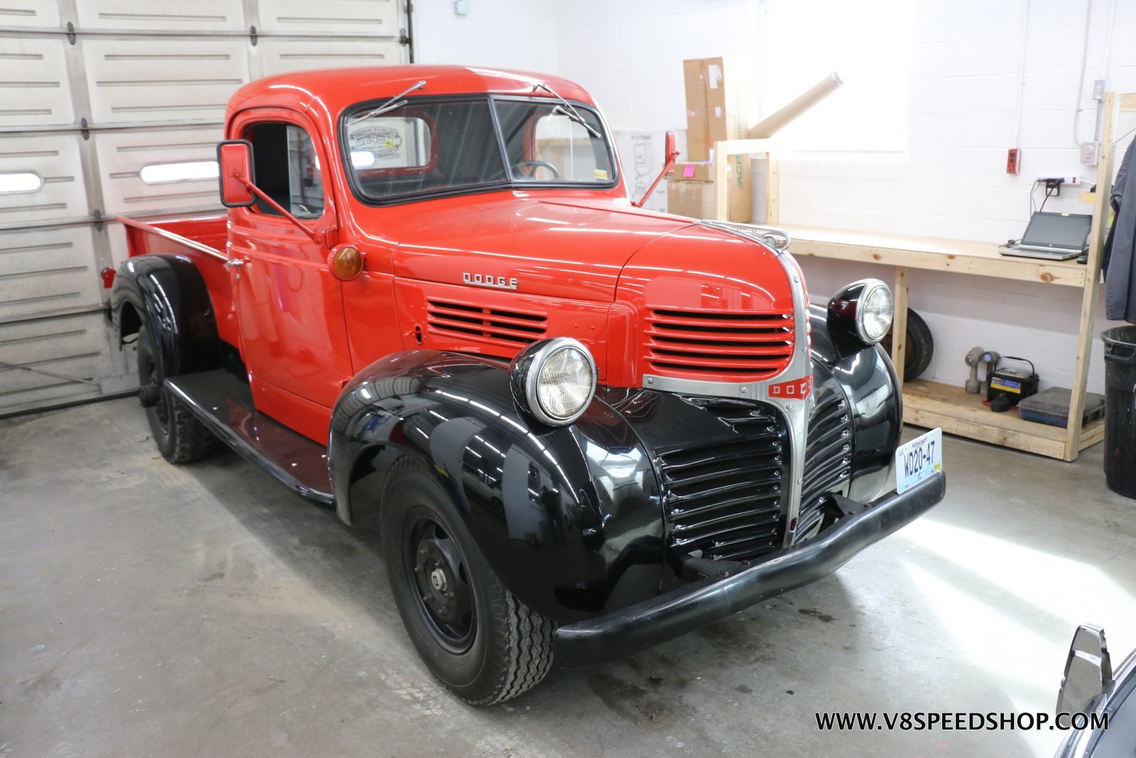 1947 Dodge Pickup Mercedes Diesel Conversion at the V8 Speed & Resto Shop