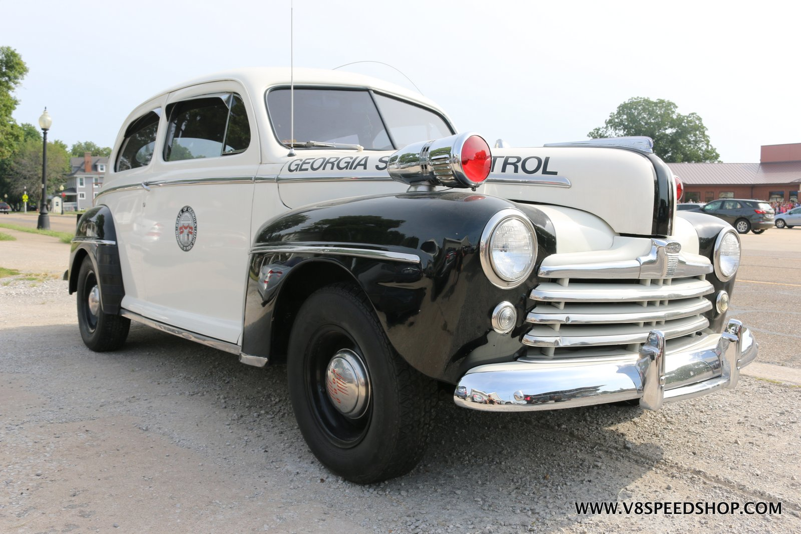 1948 Ford Police Car Repairs at V8 Speed and Resto Shop Photo Gallery