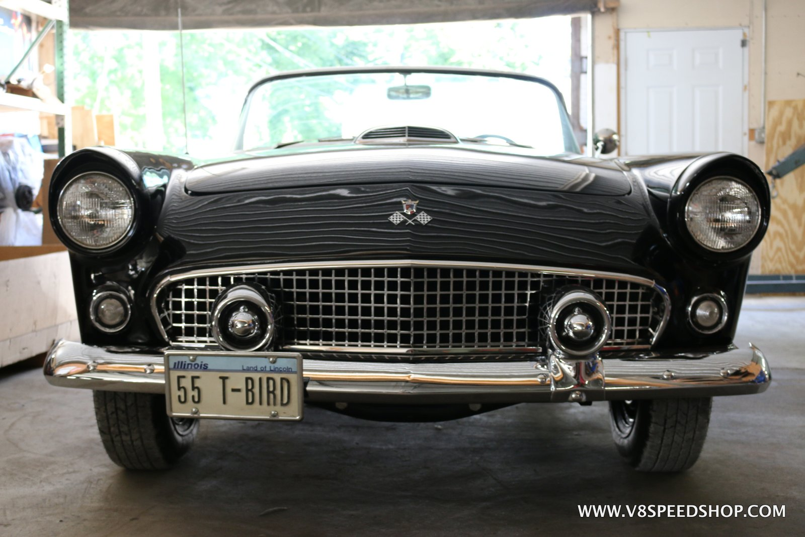 1955 Ford Thunderbird Maintenance at V8 Speed and Resto Shop Photo Gallery
