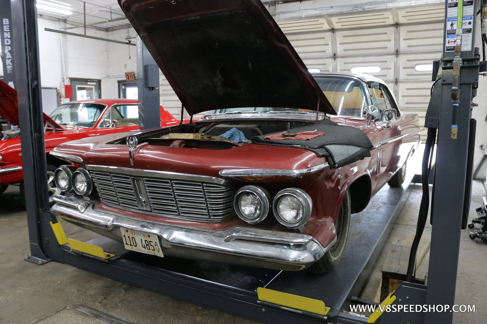 1963 Imperial Crown Convertible Maintenance at the V8 Speed & Resto Shop