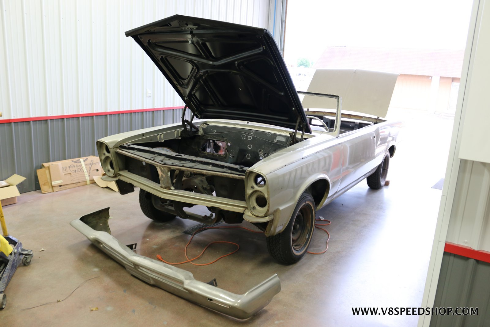 1965 Pontiac Tempest Convertible Sheet Metal Repairs at V8 Speed and Resto Shop Photo Gallery