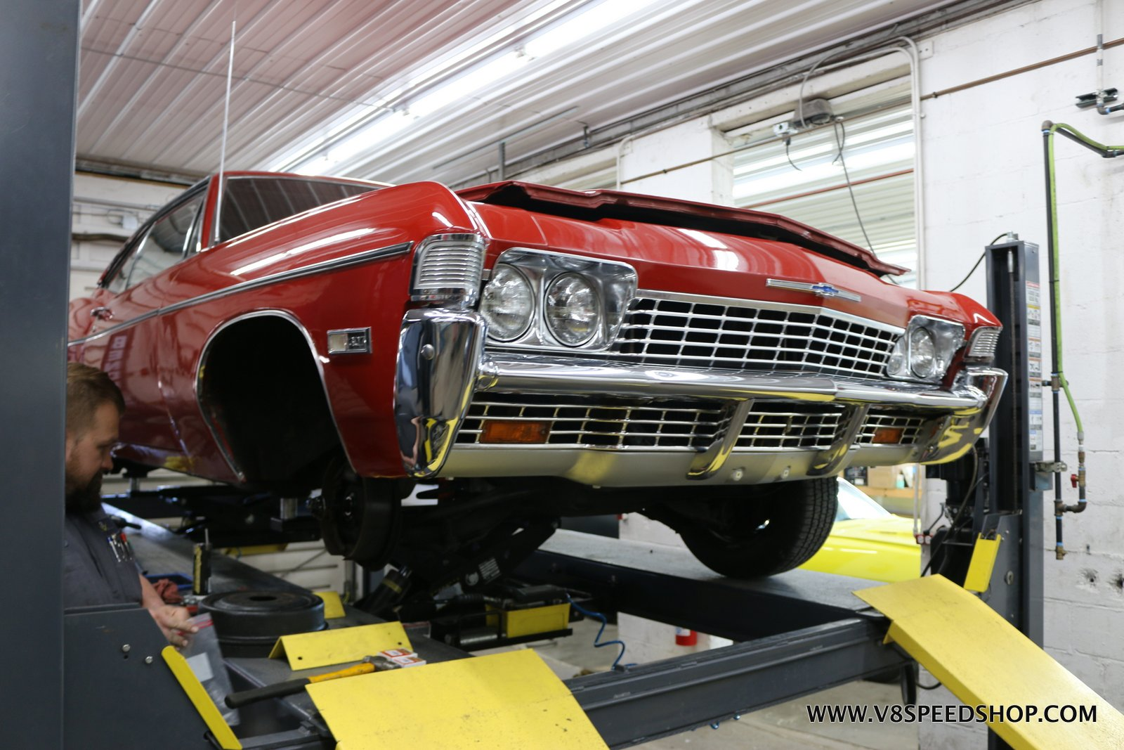 1968 Chevrolet Impala at the V8 Speed and Resto Shop