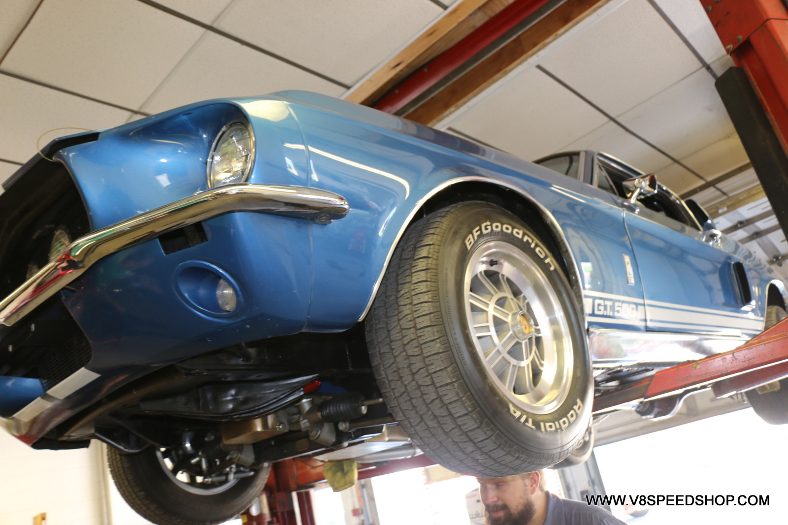 1968 Ford Mustang Maintenance at the V8 Speed & Resto Shop