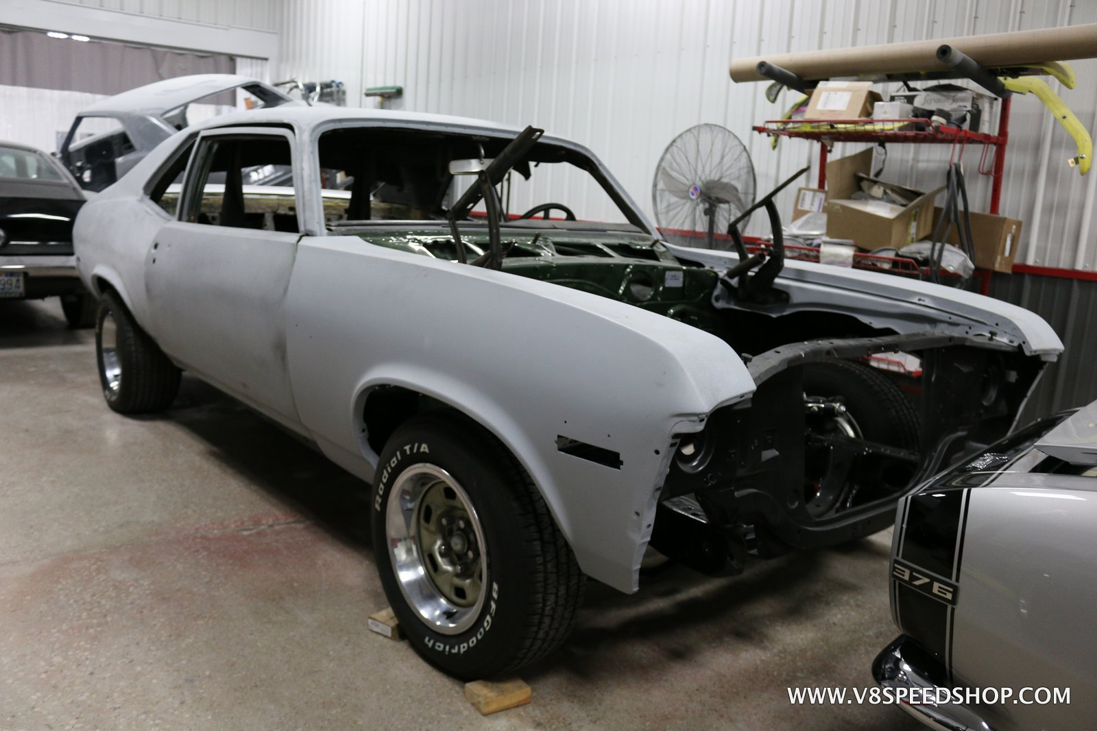 1972 Chevrolet Nova Completion at V8 Speed & Resto Shop