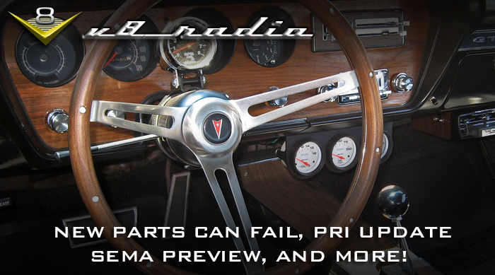 V8 Radio: New Parts Can Fail, PRI 2018 Preview, Legalities of Tuning,  Trivia, and More!