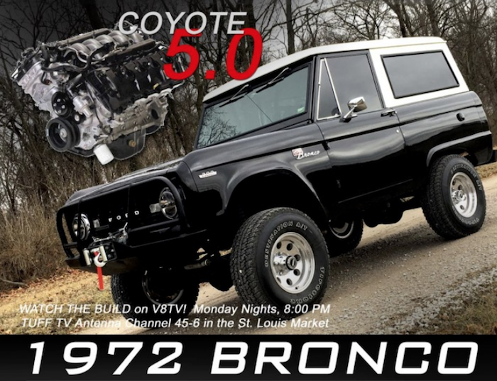 1972 Ford Bronco 5.0 Coyote Install at V8 Speed & Resto Shop