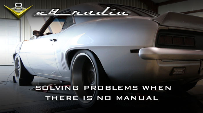 V8 Radio: Solving Problems When There Is No Manual, Trivia, And More!