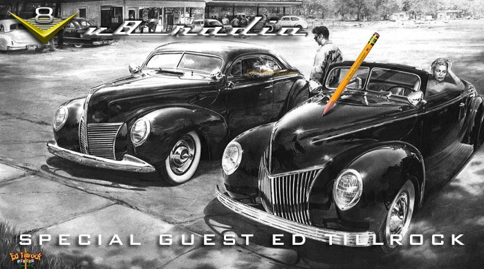 Automotive Artist Ed Tillrock on the V8 Radio Podcast