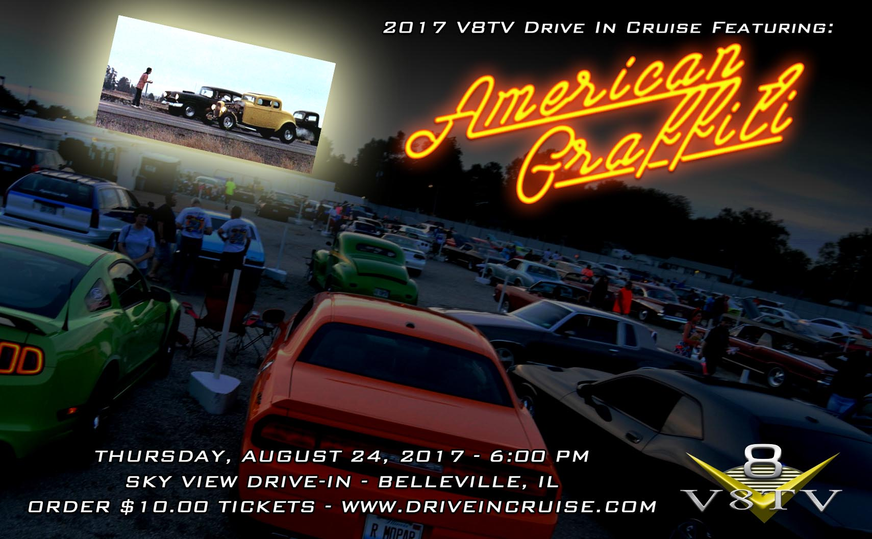 V8TV 2017 Drive In Cruise